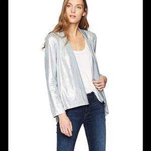 NWT Bagatelle Metallic Faux Suede drape jacket